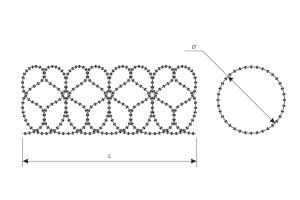 The scheme of a Concertina spiral security barrier